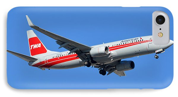 American Boeing 737-823 N915nn Phoenix Sky Harbor January 11 2015 Phone Case by Brian Lockett