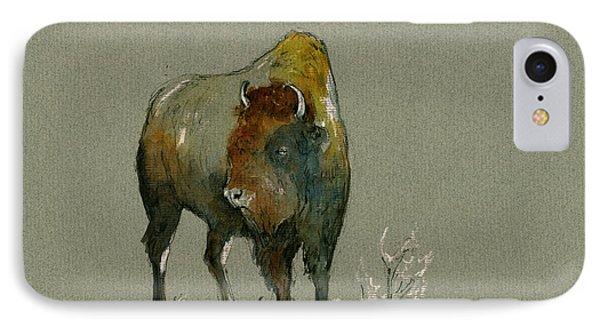 Bison iPhone 7 Case - American Buffalo by Juan  Bosco