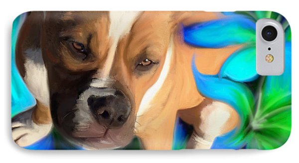 American Bulldog IPhone Case by Julianne  Ososke