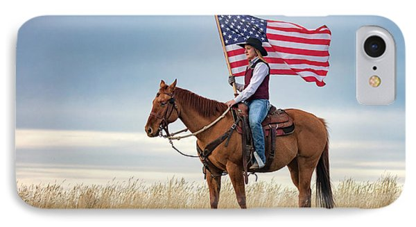 American Cowgirl IPhone Case by Todd Klassy
