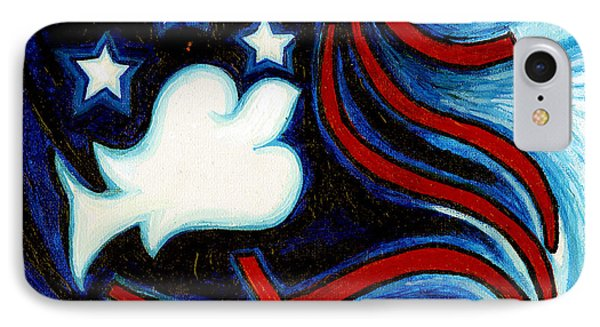 IPhone Case featuring the painting American Dove by Genevieve Esson