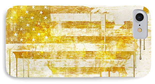American Flag Map IPhone Case by Mindy Sommers