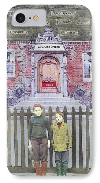IPhone Case featuring the mixed media American Dreams by Desiree Paquette