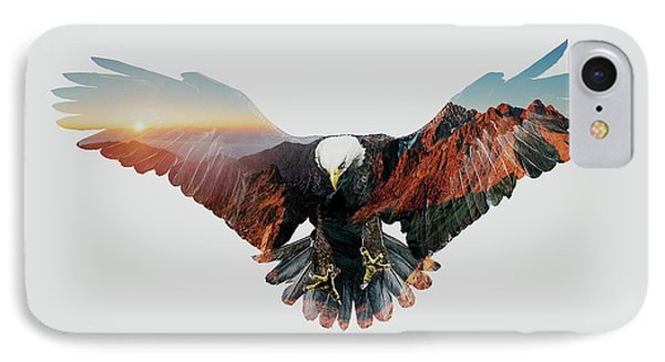 American Eagle IPhone Case by John Beckley