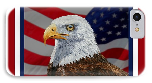 American Eagle Phone Case Phone Case by Crista Forest