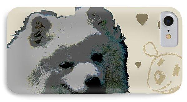 American Eskimo Phone Case by One Rude Dawg Orcutt