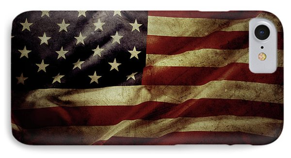 American Flag 5 IPhone Case by Les Cunliffe