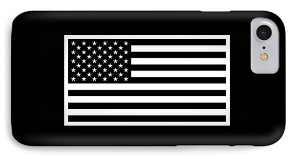American Flag - Black And White Version IPhone Case