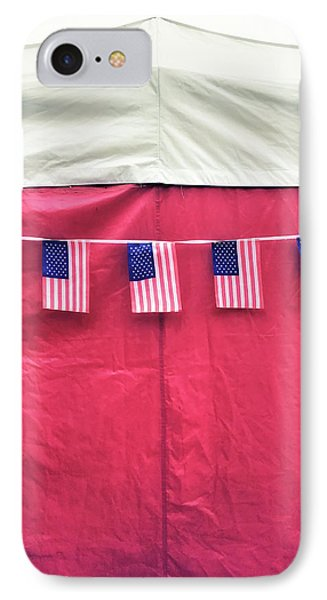 American Flag Bunting IPhone Case by Tom Gowanlock