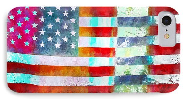American Flag IPhone Case by Edward Fielding