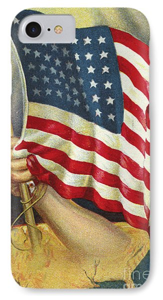 American Flag Emerging From America IPhone Case by American School