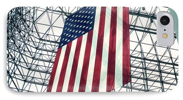American Flag In Kennedy Library Atrium - 1982 Phone Case by Thomas Marchessault