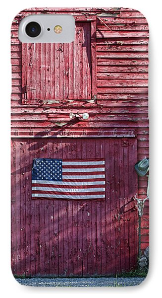 American Flag - Red Barn - Nebraska IPhone Case