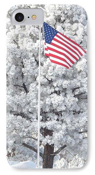 American Flag Snow  IPhone Case