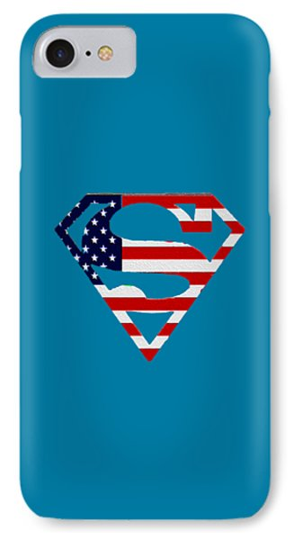 American Flag Superman Shield Phone Case by Bill Cannon