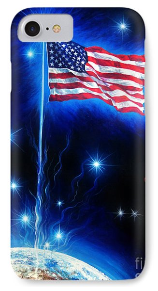 American Flag. The Star Spangled Banner Phone Case by Sofia Metal Queen