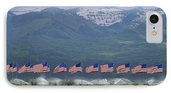 American Flags Honoring Veterans Phone Case by James P. Blair