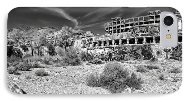 American Flat Mill Virginia City Nevada Panoramic Monochrome IPhone Case by Scott McGuire