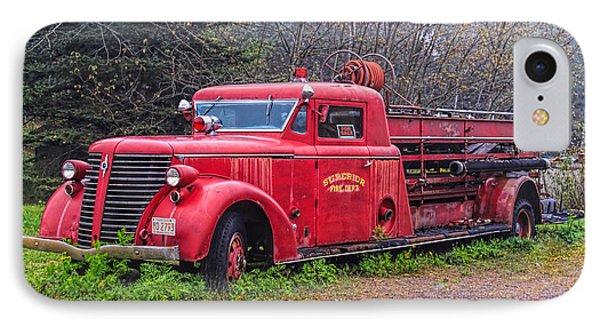 American Foamite Firetruck2 IPhone Case by Susan Crossman Buscho