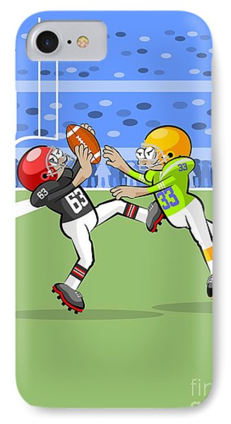 American Football Players Jumping To Catch The Ball IPhone Case