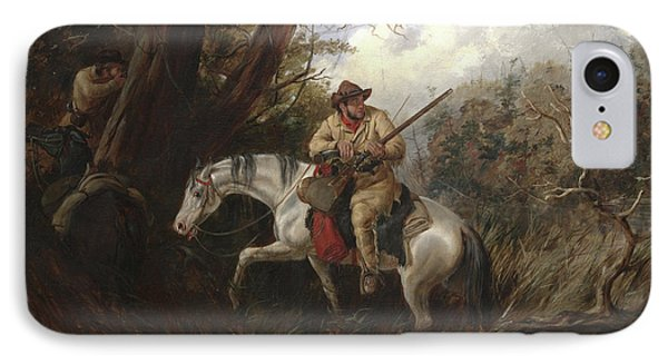 American Frontier Life IPhone Case by Arthur Fitzwilliam Tait