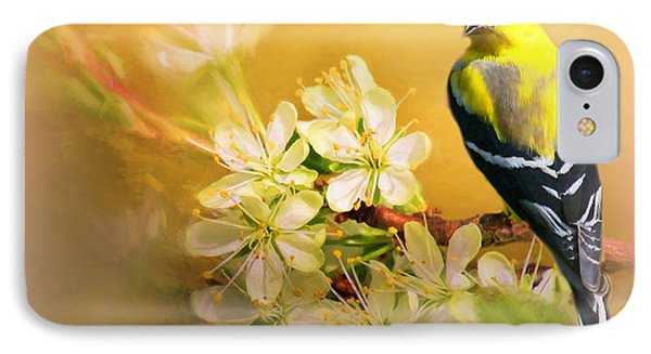 American Goldfinch In The Flowers IPhone Case