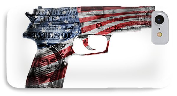 American Gun  IPhone Case by Les Cunliffe