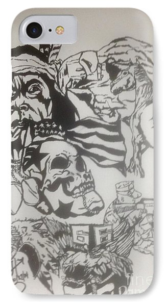 American Natives In Our Military 1 IPhone Case by Franky A HICKS