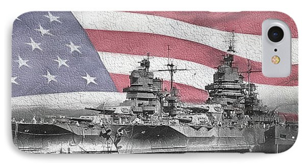 IPhone Case featuring the digital art American Naval Power by JC Findley