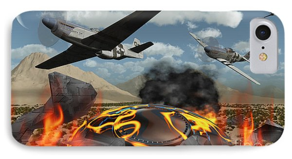 American P-51 Mustang Fighter Planes Phone Case by Mark Stevenson