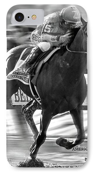 Johnny Carson iPhone 7 Case - American Pharoah And Victor Espinoza Win The 2015 Belmont Stakes by Thomas Pollart