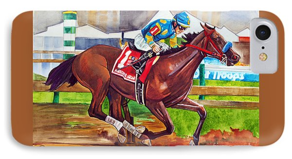 American Pharoah IPhone Case by Dave Olsen