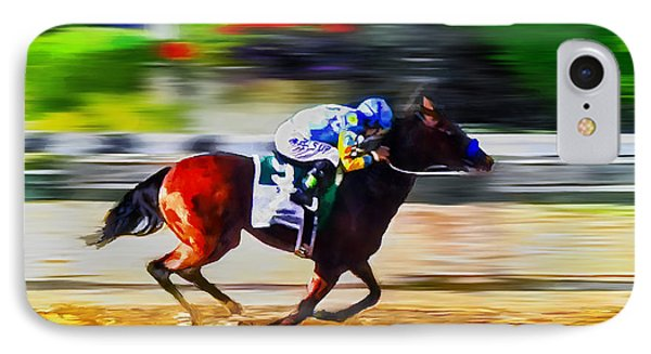 American Pharoah IPhone Case by Rick Mosher