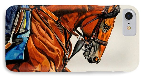 American Pharoah - Triple Crown Winner In White IPhone Case by Cheryl Poland