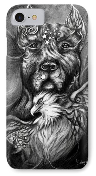 American Pitbull IPhone Case by Patricia Lintner