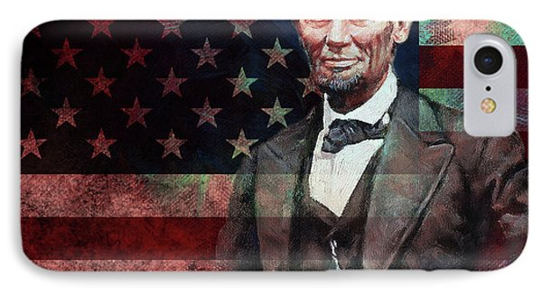 American President Abraham Lincoln 01 IPhone Case by Gull G