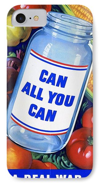 American Propaganda Poster Promoting Canned Food IPhone Case by American School