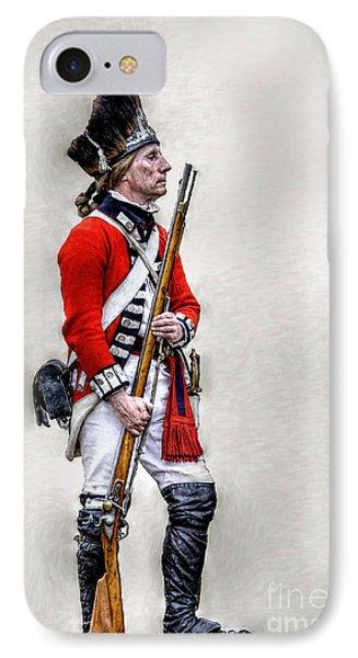 American Revolution British Soldier  Phone Case by Randy Steele