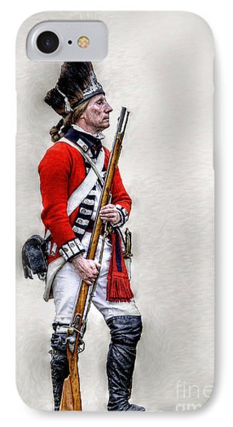 American Revolution British Soldier  IPhone Case