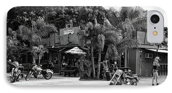 IPhone Case featuring the photograph American Roadhouse Bw by Laura Fasulo