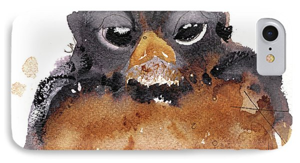 IPhone Case featuring the painting American Robin by Dawn Derman