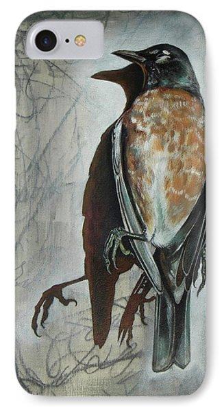 American Robin IPhone Case by Sheri Howe