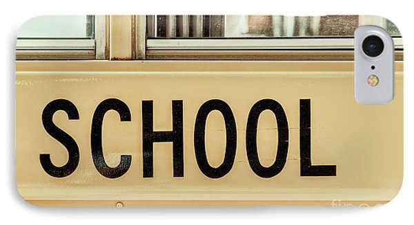 American School Bus Sign IPhone Case
