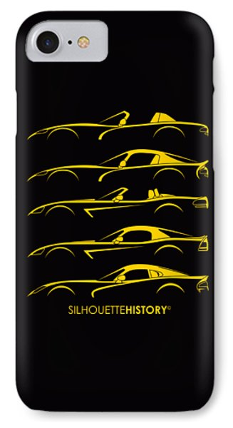 Viper iPhone 7 Case - American Snakes Silhouettehistory by Gabor Vida