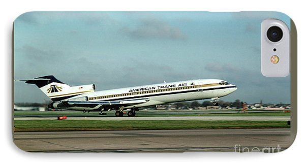 American Trans Air Boeing 727 Taking-off IPhone Case by Wernher Krutein