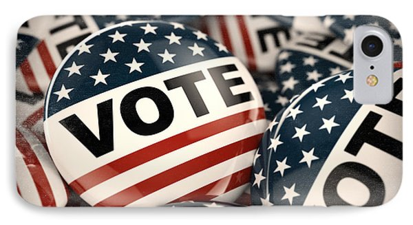 American Vote Button IPhone Case