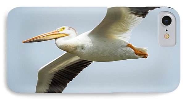IPhone Case featuring the photograph  American White Pelican Flyby  by Ricky L Jones
