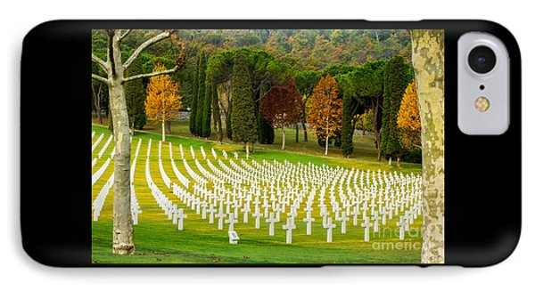 American Ww II Cemetery IPhone Case by Prints of Italy