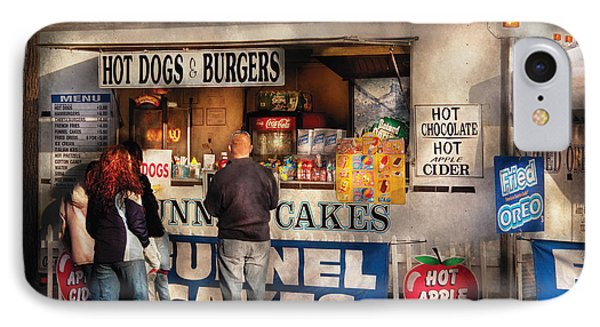 Americana - Food - Hot Dogs And Funnel Cakes Phone Case by Mike Savad