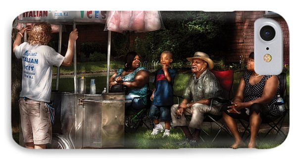 Americana - People - Buying Treats Phone Case by Mike Savad